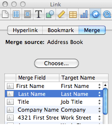 how to change source file in mail merge