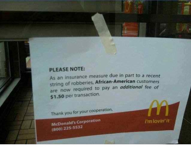 McDonald's sign hoax