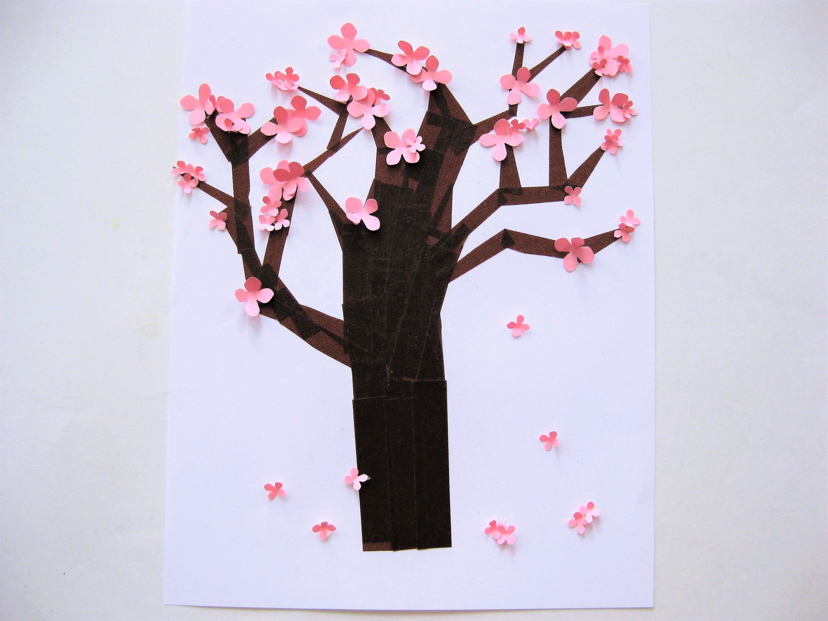 Oh So Pretty Cherry Blossom Craft For Kids Spring Crafts