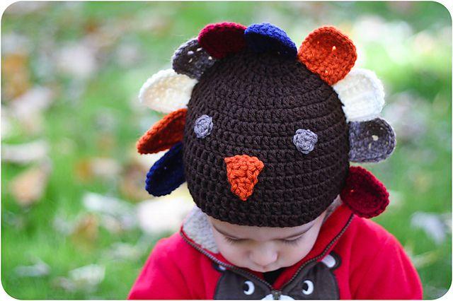 One-Year-Old's Crochet Turkey Hat FREE Pattern