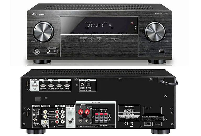 Pioneer VSX-531 5.1 Channel Home Theater Receiver