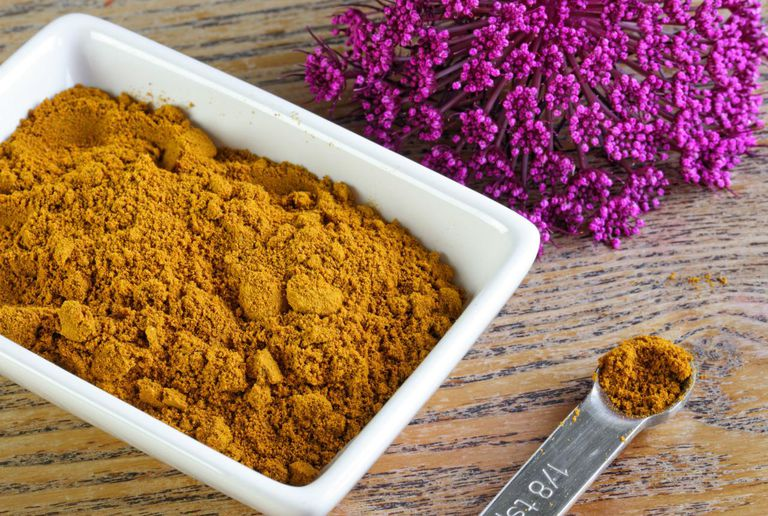 Turmeric or Curry Spice in Bowl