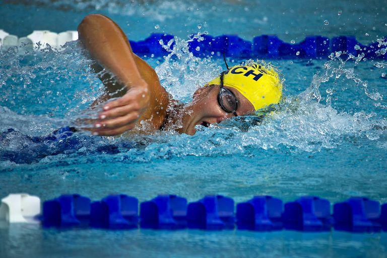 swimmer swimming in lane