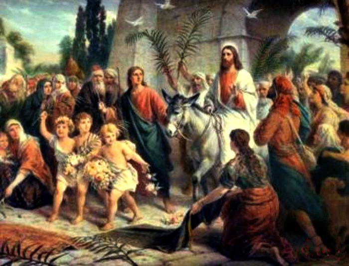 Jesus enter Jerusalem.