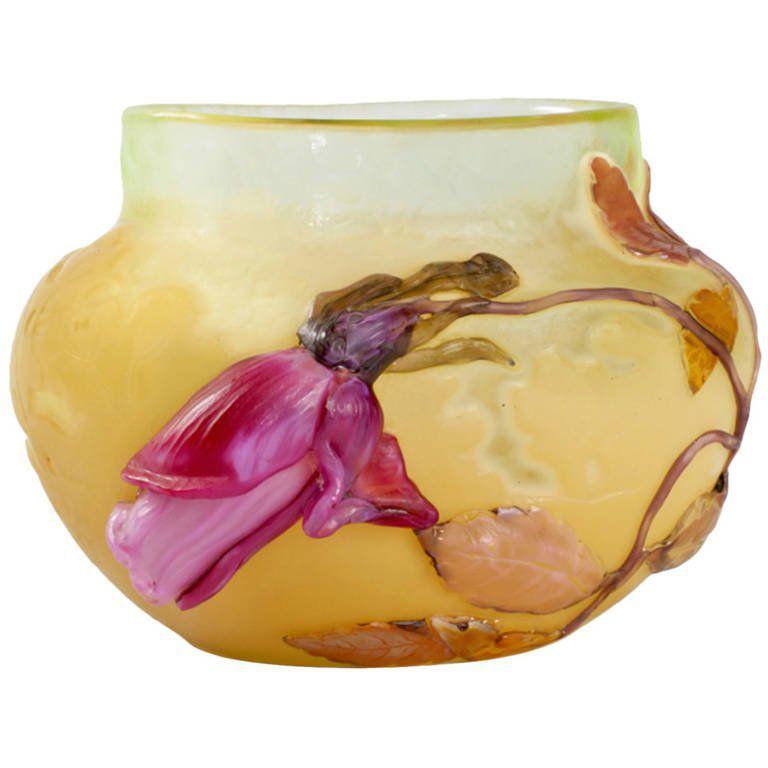"""Emile Gallé """"Rose de France"""" Vase"""