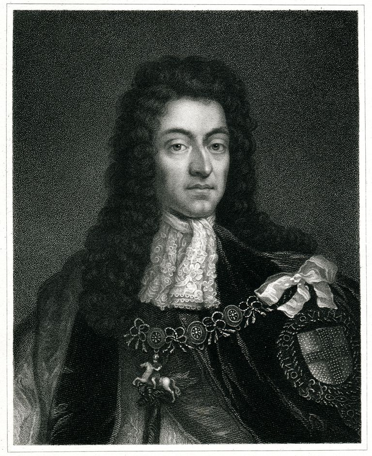 Engraving From 1834 Featuring The King Of England, William III Of England. William III Lived From 1650 Until 1702.