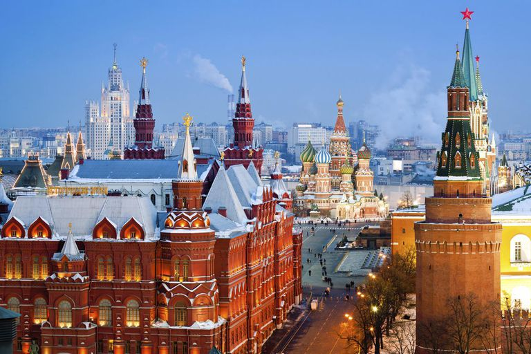 Historical Museum, St.Basil Cathedral, Red Square, Kremlin in Moscow