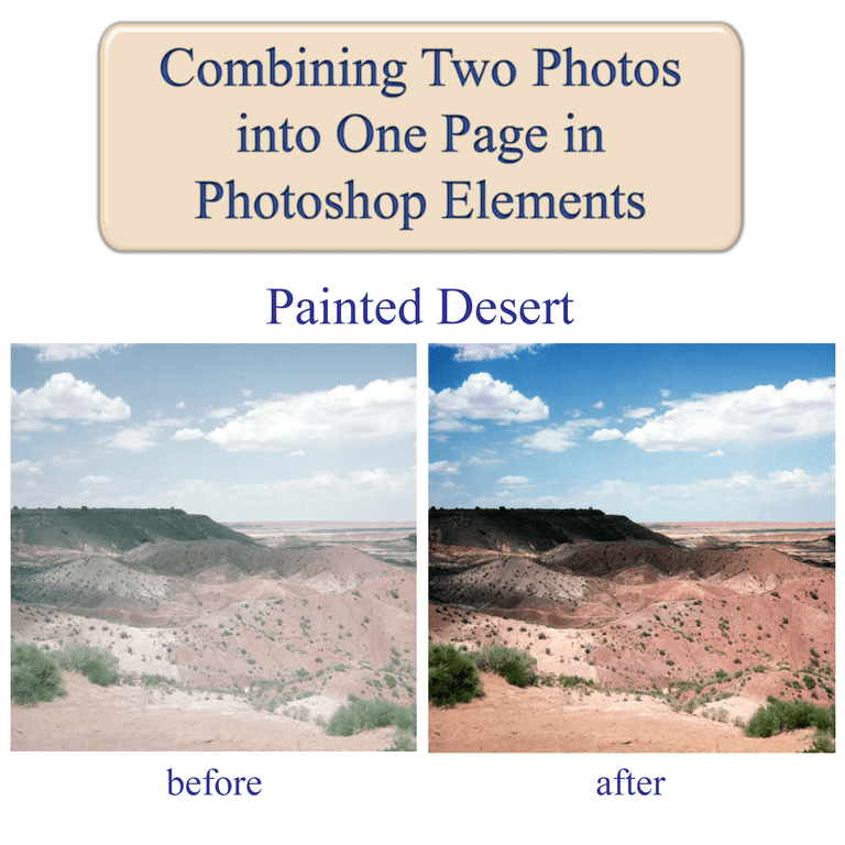 Combine Two Photos into One Page with Photoshop Elements