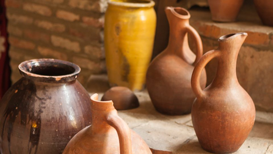 Earthenware is the most commonly found type of found clay