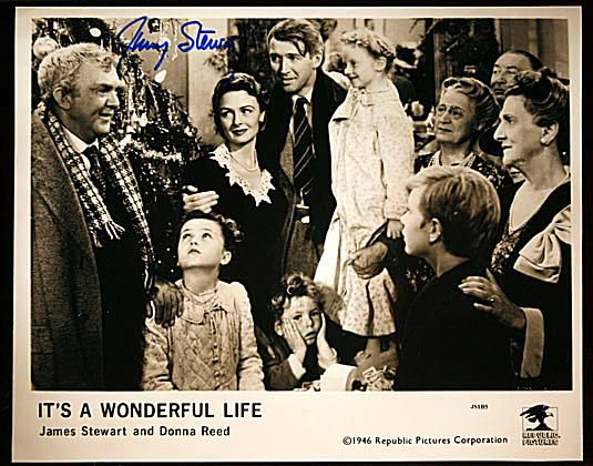 George Bailey's Family Photo Autographed by James Stewart from