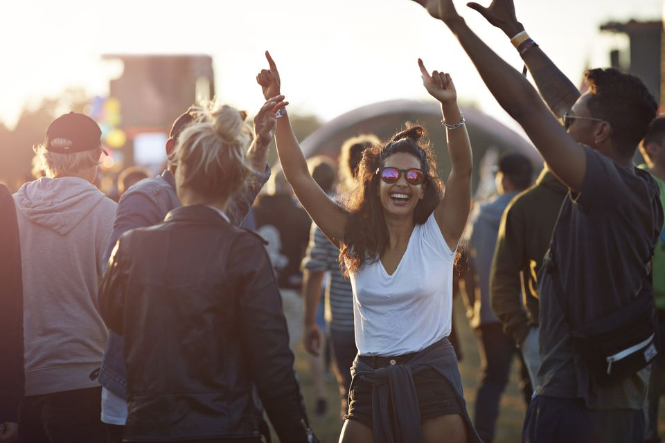 young adults at festival