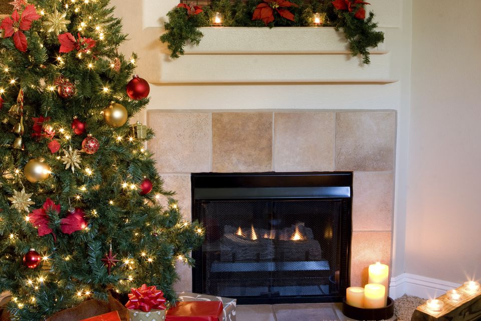 xmas tree indoors with fireplacejpg - Where To Buy A Christmas Tree