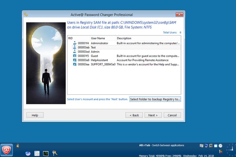 Screenshot of Active Password Changer Professional v7.0.9