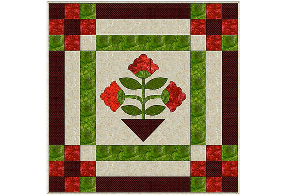Easy Fusible Web Applique Quilt Pattern