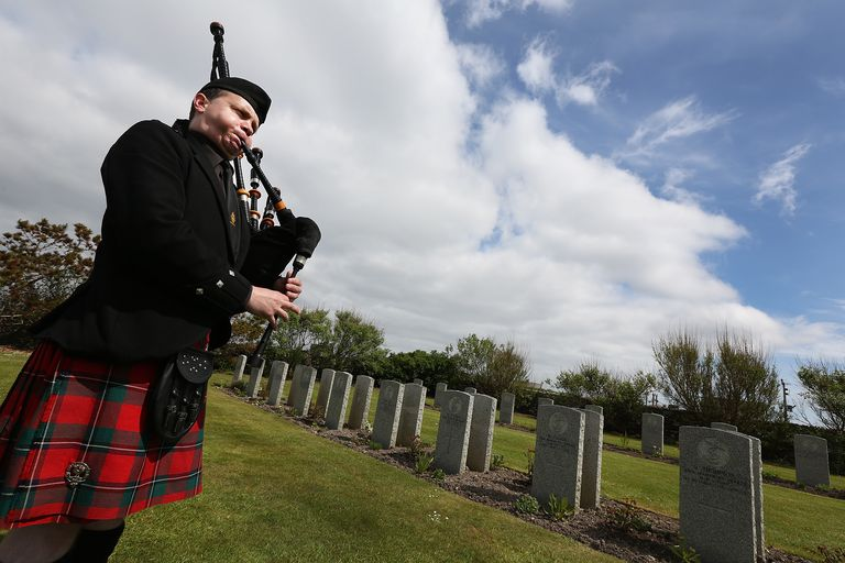 Commonwealth War Graves Commission Commemoration At Lyness Royal Naval Cemetery
