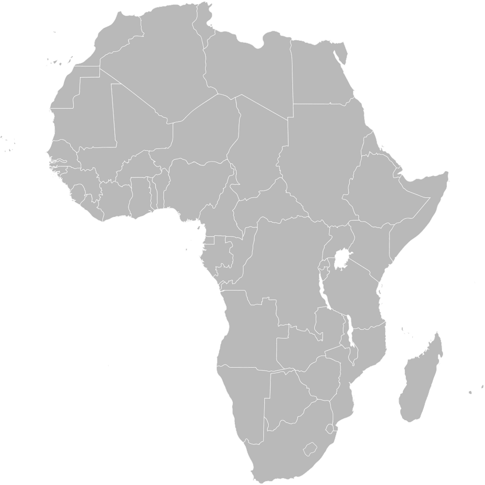 Various Maps Showing How Big Africa Is - Empty map of africa