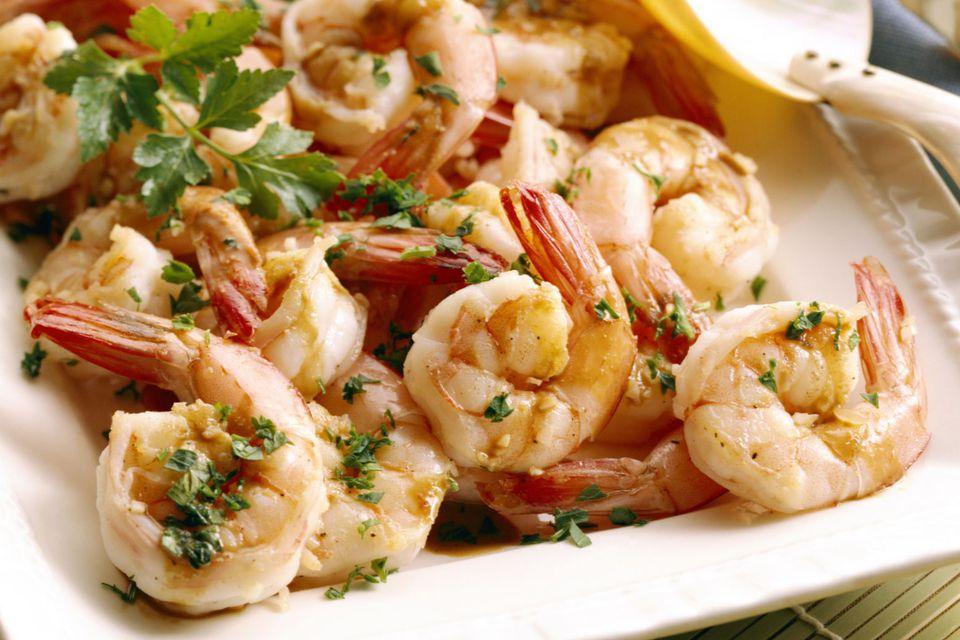 Shrimp with Scampi Sauce