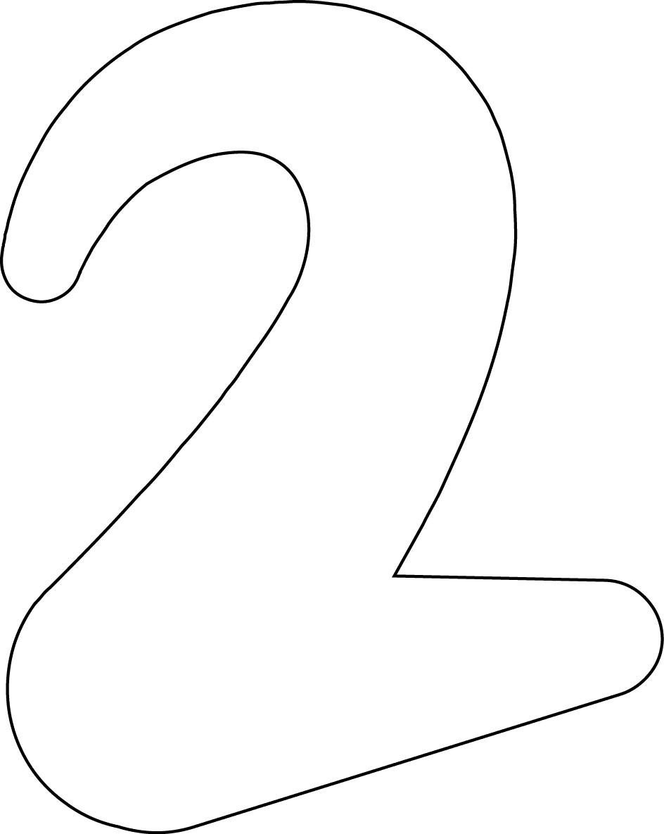 Retro Printable Numbers