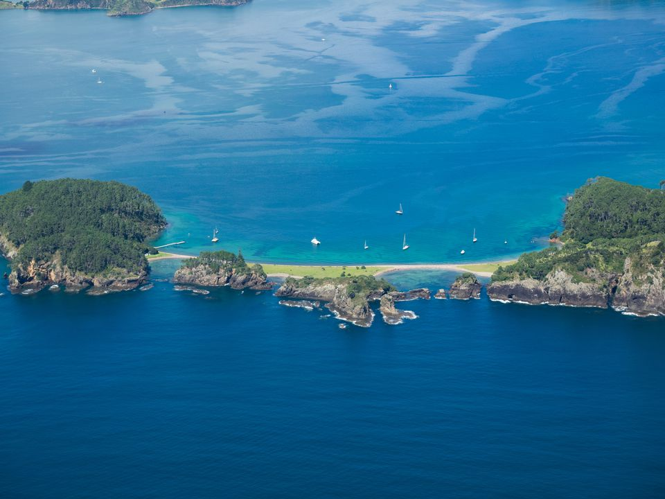 An aerial view of the Northland, Bay of Islands.