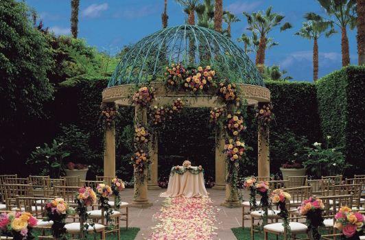 Rose Garden Wedding Ceremony at Ritz-Carlton Marina del Rey in Los Angeles