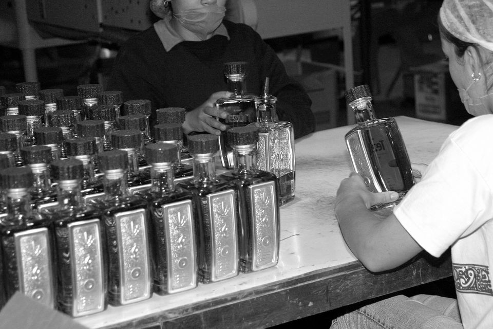 Bottling Reposado Tequila at Tequila Tezon