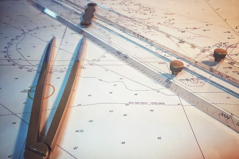 Mapping coordinates on a map