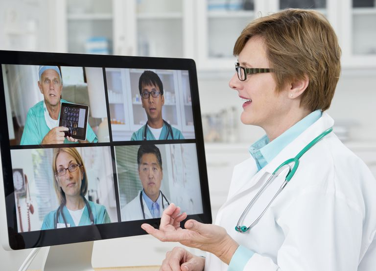 Video conferencing allows you to interact visually with several people