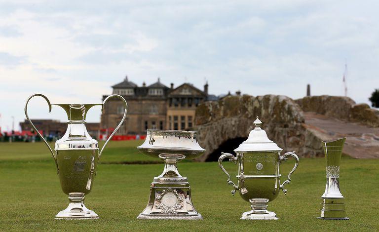Women's major championship trophies