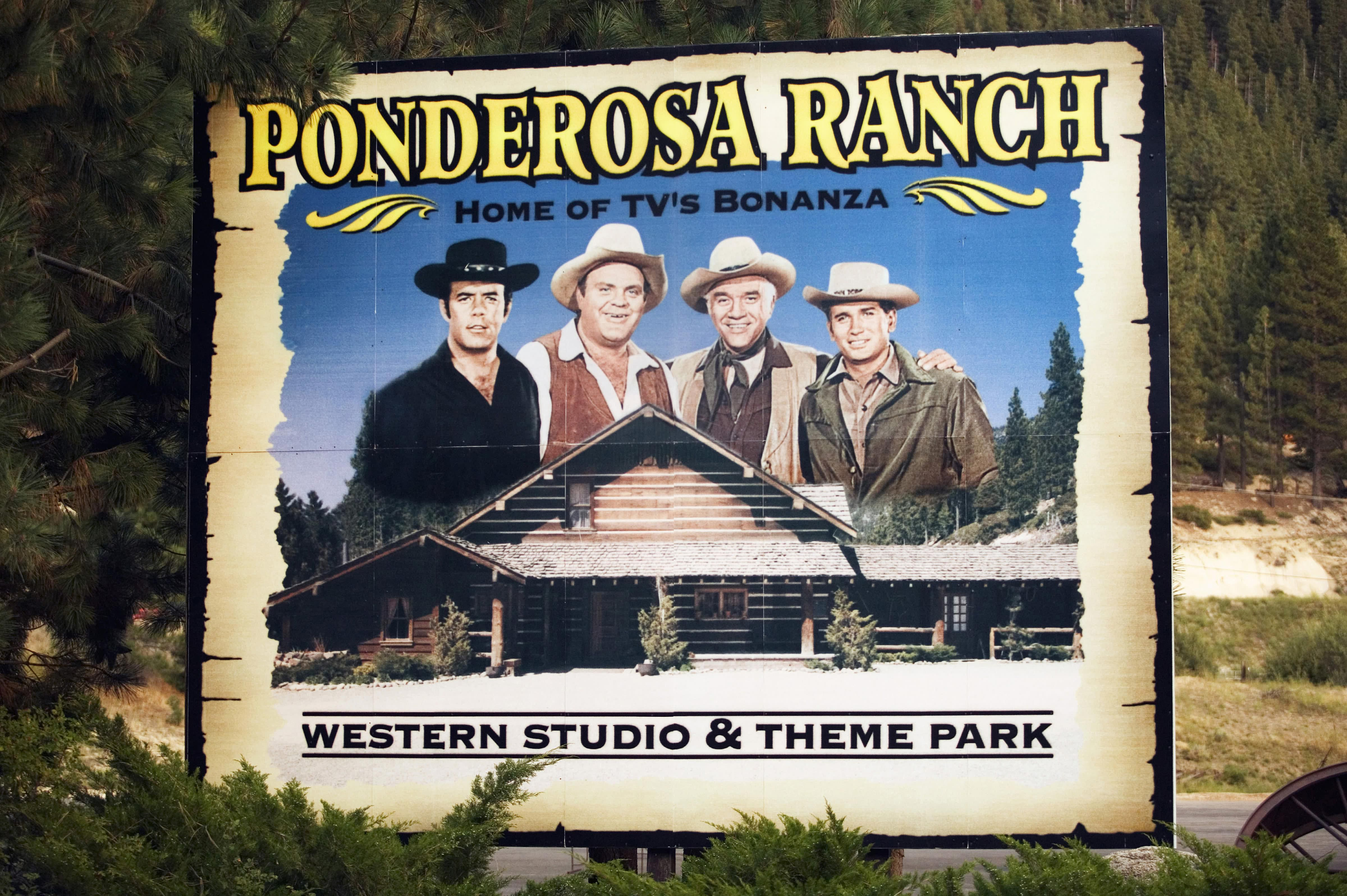 ponderosa ranch bonanza tv location at lake tahoe. Black Bedroom Furniture Sets. Home Design Ideas