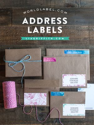 Envelopes and packages with address labels on them.