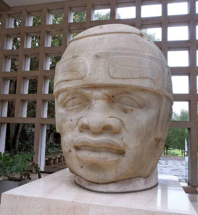 Olmec Head at the Xalapa Anthropology Museum