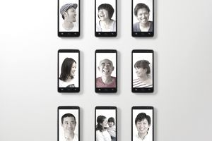 The photograph of expression, and nine smart phone