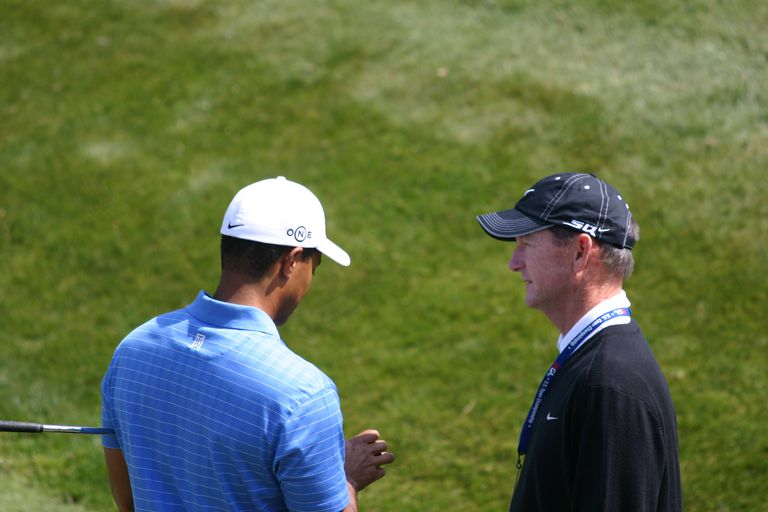 Tiger Woods and Hank Haney, 2008