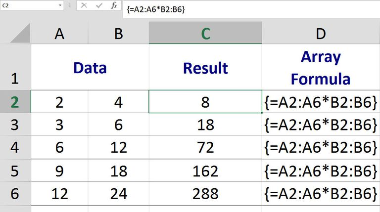 Perform Calculations in Multiple Cells with One Excel Array Formula