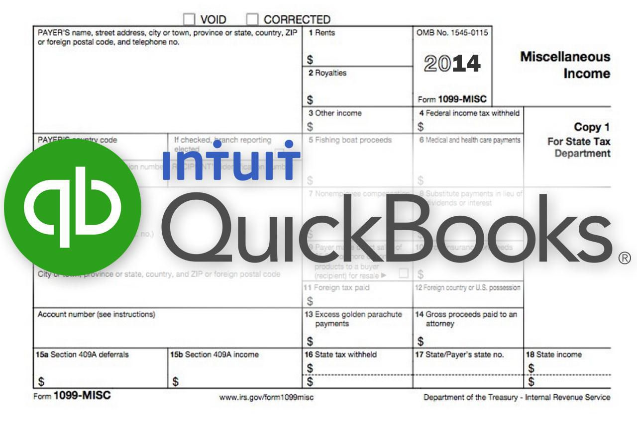 How to prepare your 1099 misc forms with quickbooks 1099 form and intuit quickbooks logo falaconquin