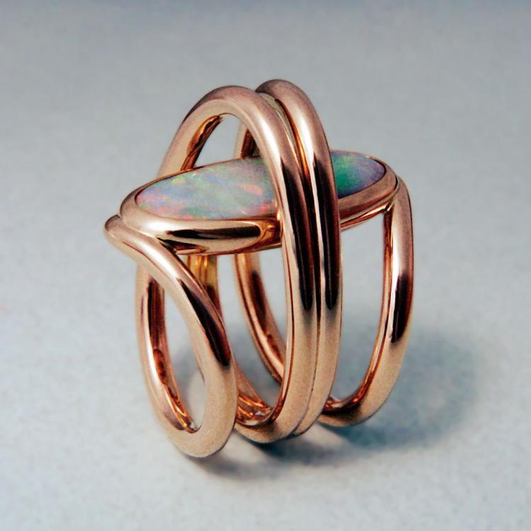 Rose Gold Designer Ring