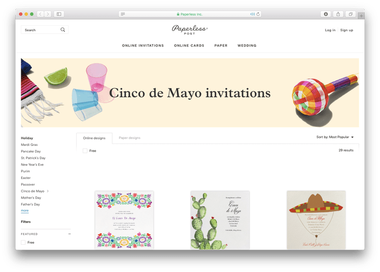 Paperless Post Cinco de Mayo Invitations