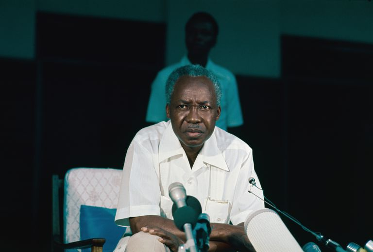 Julius Nyerere at New Conference