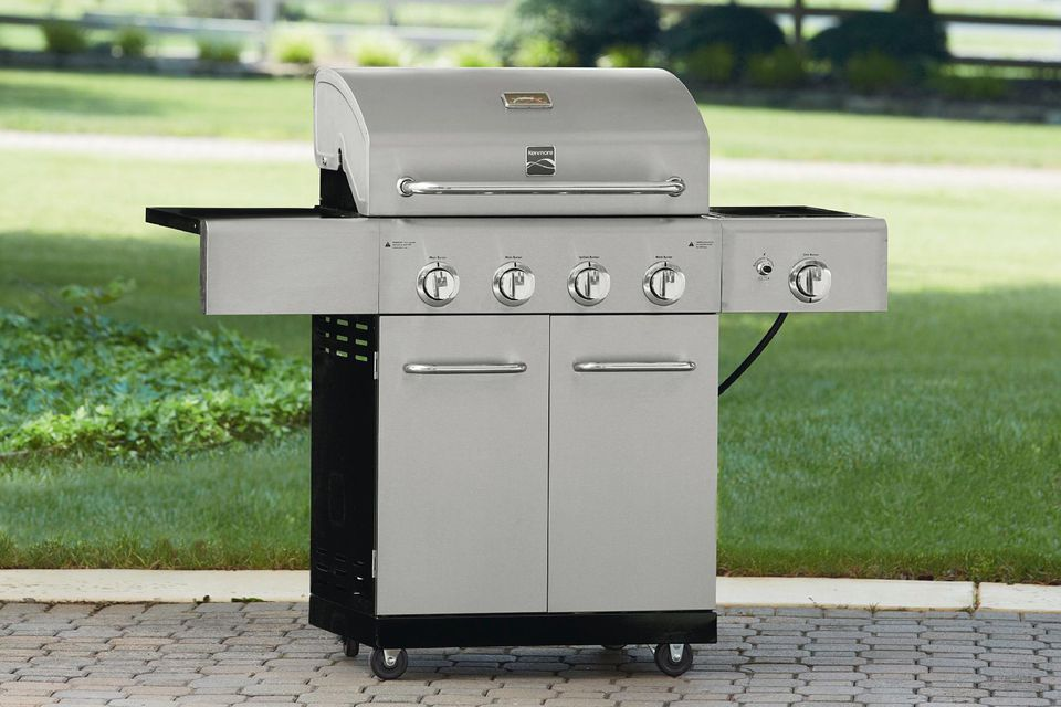 kenmore 4 burner stainless steel gas grill review. Black Bedroom Furniture Sets. Home Design Ideas
