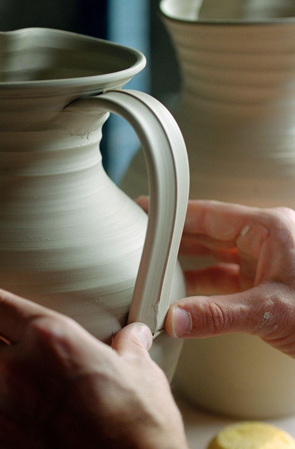 Pottery handle