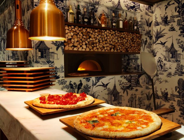 The pizza oven at 208 Duecento Otto