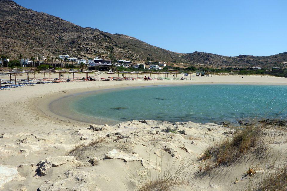 Maganari Beach on the Aegean Sea at Greek island of Ios