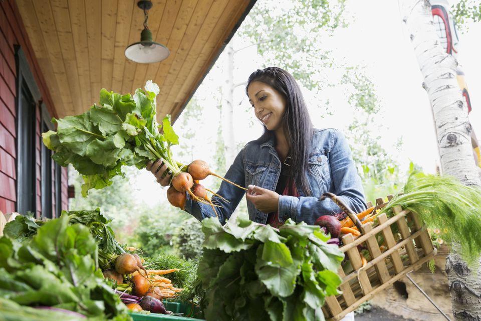 woman farmers market