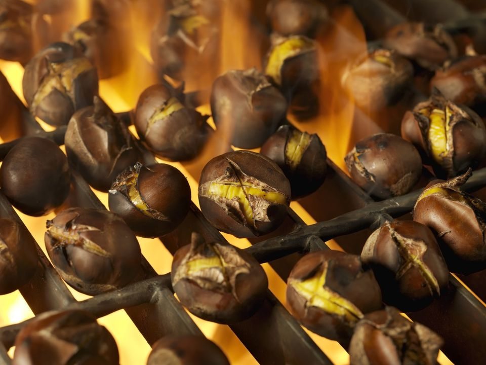 Roasting chestnuts on grill