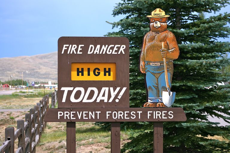 Smokey the Bear Sign