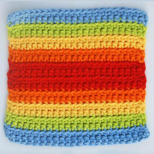Double Rainbow Crochet Square
