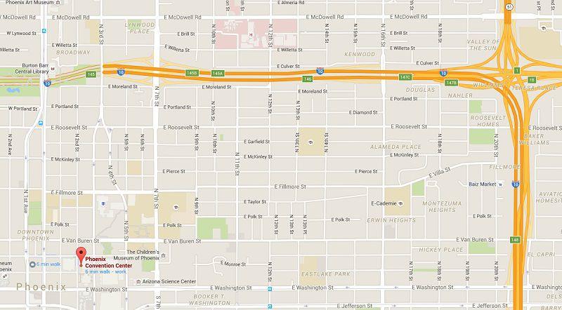 Map: Phoenix Convention Center