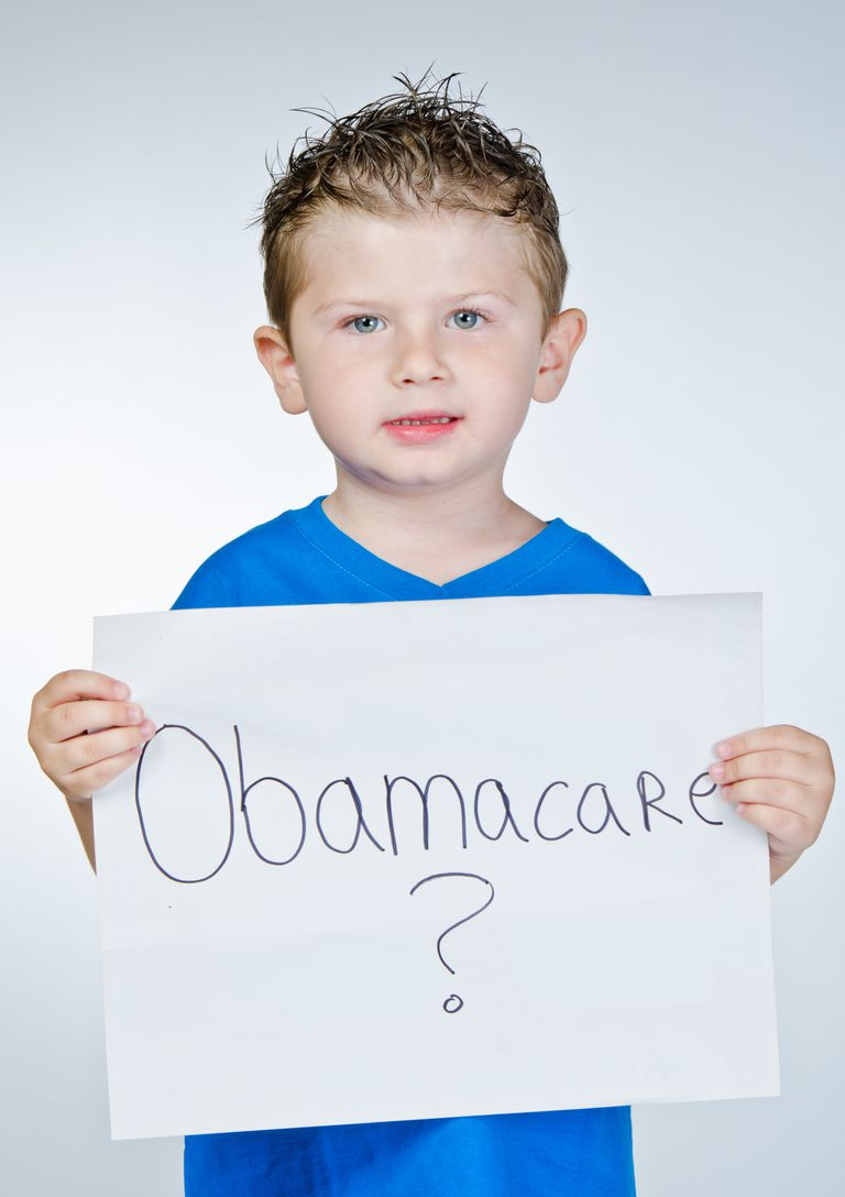 Little Boy Holding Obamacare Sign