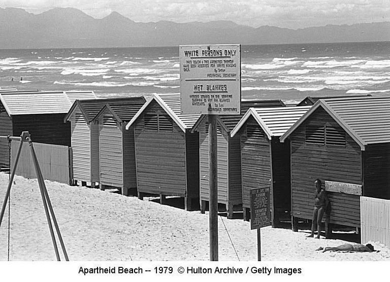 Apartheid Beach -- 1979 © Hulton Archive / Getty Images