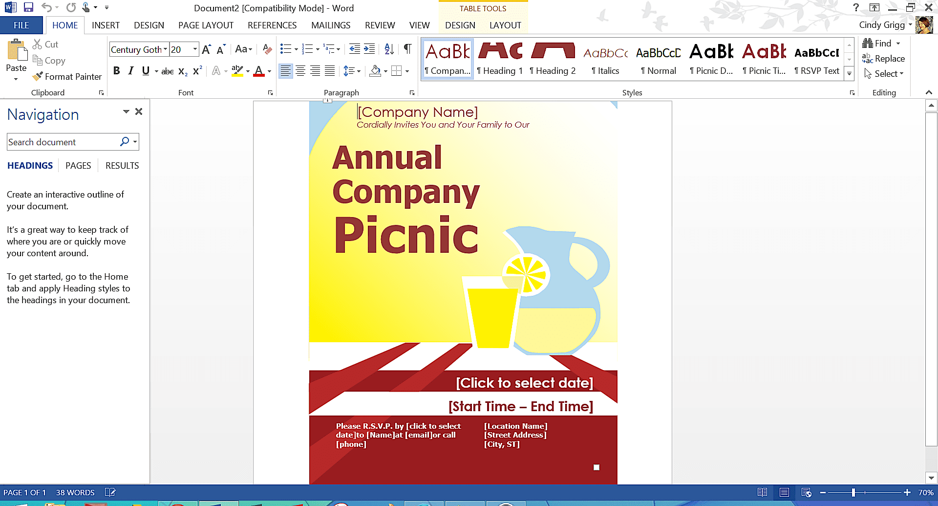 how to make a good flyer in word